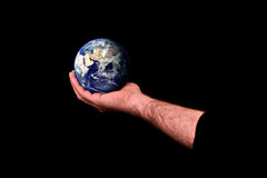 Man caring for earth Stock Images