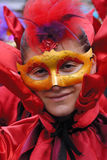 Man with carnival mask Stock Images