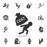 Man carry the costs icon. Detailed set of finance, banking and profit element icons. Premium quality graphic design. One of the co. Llection icons for websites Royalty Free Stock Image