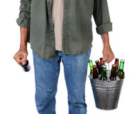 Man Carrying Beer Stock Photos