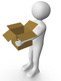 Man carrying a box Stock Photo