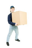 The man carrying a box Royalty Free Stock Photos