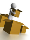 Man carrying a box3 Stock Photo