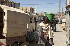Man carrying a bucket, Ethiopia Stock Image