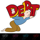 Man Carrying Debt. An image of a carrying a heavy debt Royalty Free Stock Photo