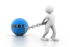 Man carrying debt Royalty Free Stock Photos