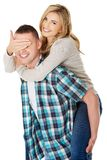 Man carrying his woman Royalty Free Stock Images