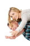 Man carrying his woman Stock Photography
