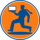 Man carrying laptop computer Stock Images
