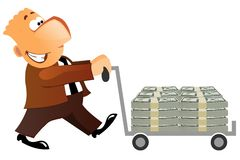 Man carrying money Royalty Free Stock Photos
