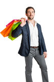 Man Carrying Shopping Bags Stock Photos
