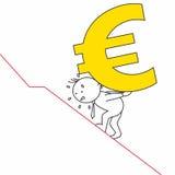 Man carrying a steep euro Stock Photos