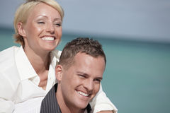Man carrying with woman Royalty Free Stock Photos