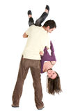 Man carrying a woman Royalty Free Stock Photography