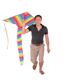 Man carrys kite Royalty Free Stock Photo