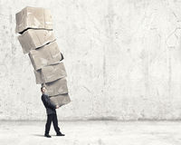 Man with carton boxes Royalty Free Stock Images