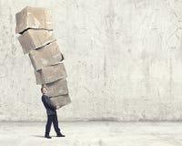 Man with carton boxes Stock Photography