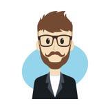Man cartoon character Stock Images