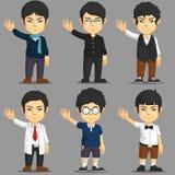 Man Cartoon Character Set Stock Photo