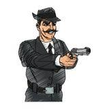 Man cartoon with gun design Royalty Free Stock Images