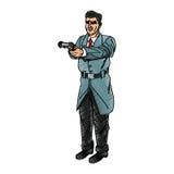 Man cartoon with gun design Stock Image