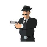 man cartoon with gun design Royalty Free Stock Image