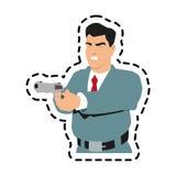 man cartoon with gun design Stock Photography