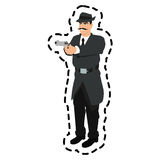 man cartoon with gun design Royalty Free Stock Photo