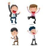 Man Cartoon Happy Jump Set Vector Royalty Free Stock Photography