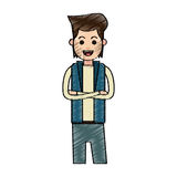 Man cartoon icon Stock Image