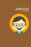 Man cartoon theme business card Royalty Free Stock Photography