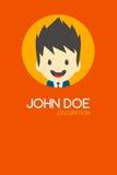 Man cartoon theme business card Stock Images