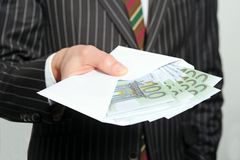 Man with cash royalty free stock photography