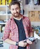 Man at the cash register Stock Photography
