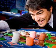 Man in a casino Royalty Free Stock Photos