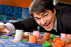Man in a casino Stock Photos
