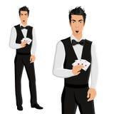 Man casino dealer portrait Stock Photography