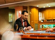 Man in casino Royalty Free Stock Photography