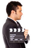 Man casting for a tv role Royalty Free Stock Photography