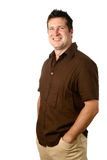 Man in casual brown, Royalty Free Stock Photo