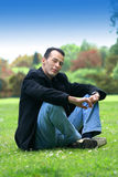 Man in casual clothes, outdoor Royalty Free Stock Photos