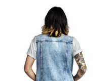 Man Casual Lifestyle Calm Solitude Rear View Concept Stock Image