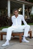 Man in Casual Style Clothing Royalty Free Stock Photo