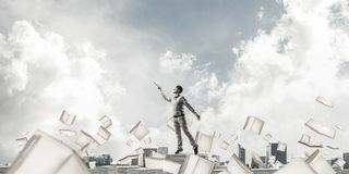 Study hard to become successful businessman. royalty free stock photo
