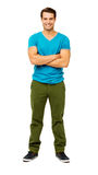 Man In Casuals Standing Arms Crossed Royalty Free Stock Image