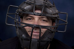 Man in a Catcher's Mask - Horizontal Royalty Free Stock Photo