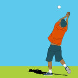 Man Catching Ball. An image of a man catching a ball Royalty Free Stock Photos