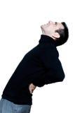 Man caucasian backache pain Royalty Free Stock Images