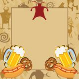Man Cave Bachelor Party Invitation Royalty Free Stock Photo