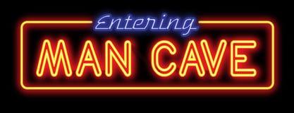 Man Cave Neon Sign royalty free illustration